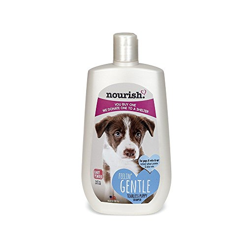 Nourish Tearless Gentle Puppy Shampoo, Baby Powder Scented 16 oz - You Buy 1, We Donate 1 to a...