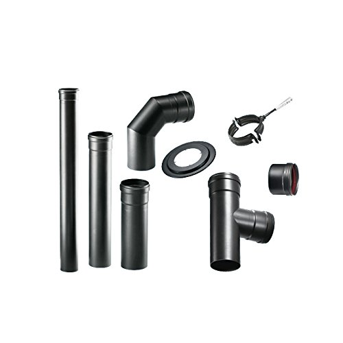 WEBMARKETPOINT 158300 - Juego de tubos para estufas de pellet (8 piezas): Amazon.es: Hogar