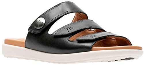 Women's Black CLARKS D Un Leather 10 US Myra Reisel OxdqAwHd