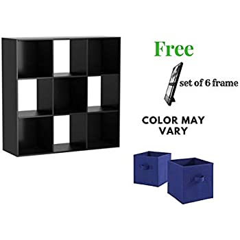 Mainstays Cube Organizer Multiple Colors Compartment Storage Cube Black 9 Cube With Free
