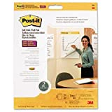 Post-it Easel Pads, Self-Stick, Wall Mt, 20''x23'', White, 2 Pads/Pack MMM566