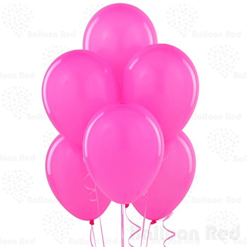 12 Inch Pearlized Latex Balloons (Premium Helium Quality), Pack of 100, Pearl Fuchsia (Hot Pink And Lime Green compare prices)