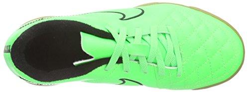 NikeJunior Tiempo Rio II IC - zapatillas de fútbol Niños-Niñas Verde - Grün (Green Strike/Grn Strk-Blk-Blk)