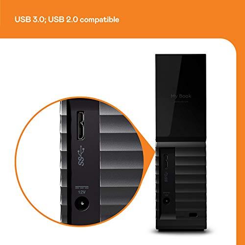 WD 12TB My Book Desktop External Hard Drive, USB 3.0 - WDBBGB0120HBK-NESN