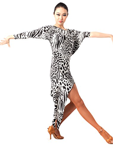[Women's Latin Salsa Ballroom Chacha Practice Dance Dress Costumes(M)] (Chacha Dance Costume)