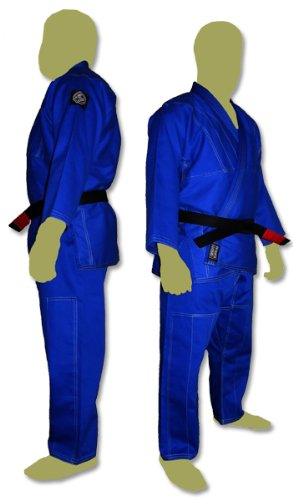 プレミアムBrazilian Jiu Jitsu Kimonos – ホワイト、ブルーまたはブラック( a4 ,ブルー)