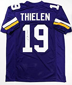 f2bd474f1e6 Adam Thielen Autographed Purple Pro Style Jersey- JSA Witnessed Auth 1 at  Amazon's Sports Collectibles Store