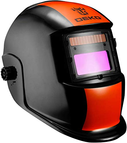DESOON Orange Black Auto Darkening Welding Helmet with Wide Lens Adjustable Shade Range 4/9-13 for Mig Tig Arc Weld Grinding Welder Mask ...