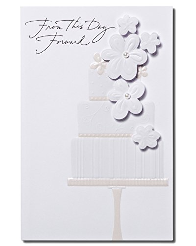 American Greetings Warmest Wishes Wedding Card with Floral Attachments