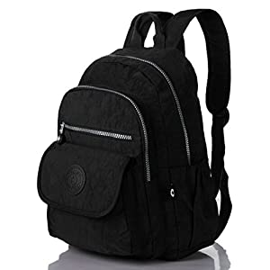 Mini Travel Daypack Nylon Cute Junior School Backpack (1503 Black)