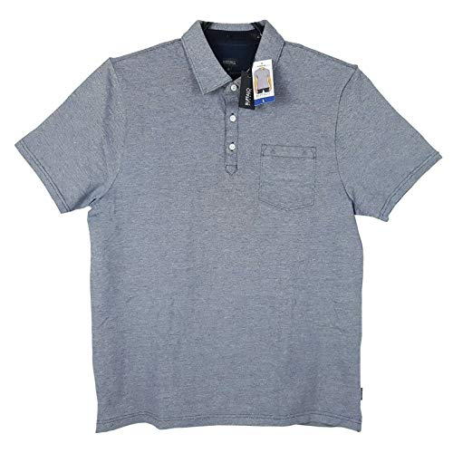 (Buffalo David Bitton Men's Short Sleeve Polo Shirt (Heather Grey, L))
