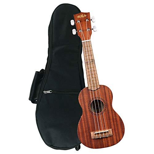 - Kala KA-15S Mahogany Soprano Ukulele with FREE Deluxe Stronghold brand soprano uke soft case gig bag
