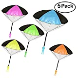 HLXY Throwing Toys Tangle Free Parachute Men 5PCS Toss It Up and Watch Landing Outdoor Children's Flying Toys