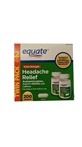 Equate Extra Strength Headache Relief 2-Pack (400 caplets) Compare to Excedrin Extra Strength