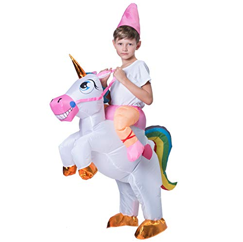 Spooktacular Creations Inflatable Riding a Unicorn Air Blow-up Deluxe Costume - Child One Size Fits 4-8yr (40''-52'' Height) by Spooktacular Creations (Image #2)