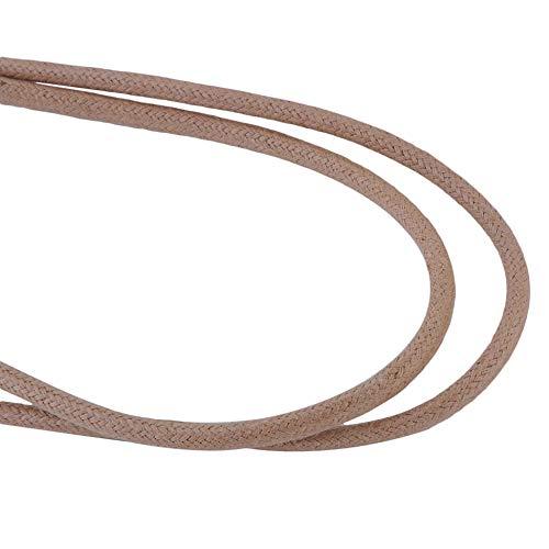 Kahki 140cm Triamisu Al aire libre Ronda cruda Escalada Encerado Cordones de los zapatos Use cordones deportivos /ásperos Zapatos de cuero de caballero de ocio Encaje
