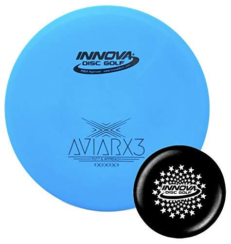 Innova Discs Golf DX AviarX3 Disc Golf Putter with Stars Stamp Innova Mini (Colors Will Vary) (151-159g) ()