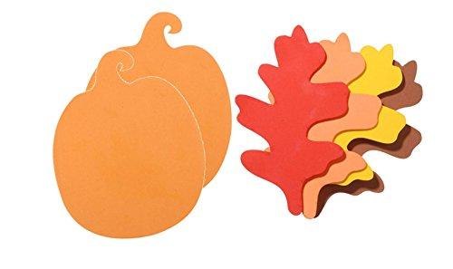 72 Piece Large Foam Pumpkins and Leaves by Nikki's Knick Knacks
