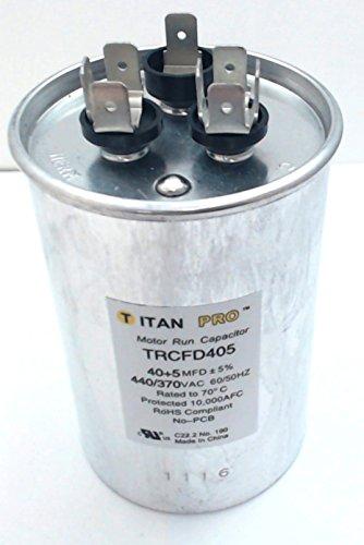 TITAN PRO TRCFD405 Motor Run Capacitor Round 4-13/16 In. H