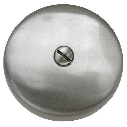 Simpatico 31595SN Bath Tub Overflow Plate with Screws of 1-Hole, Satin Nickel