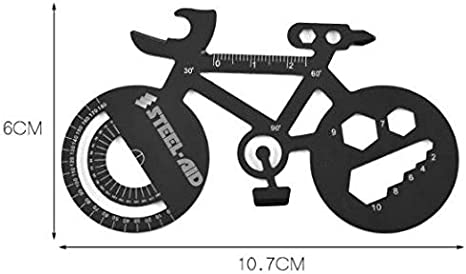 Black Bike Shaped Multi Tool Fathers Day Gifts for dad under 20 Dollars