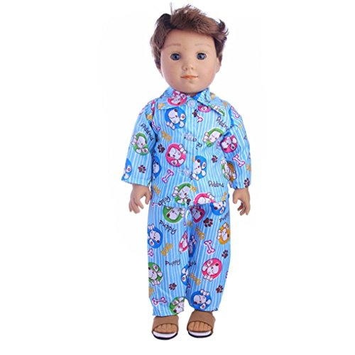 Sunward Boy Doll Costumes Casual Clothes Fit For 18 Inch American Girl & Boy Dolls Logan Outfits (B)