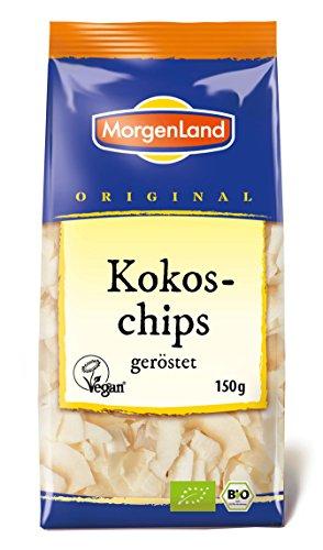 MorgenLand Bio-Kokoschips geröstet, 4er Pack (4 x 150 g)