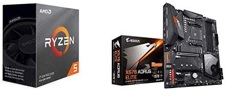 Amazon Com Amd Ryzen 5 3600 6 Core 12 Thread Unlocked Desktop Processor With Wraith Stealth Cooler With X570 Aorus Elite Gaming Motherboard Computers Accessories