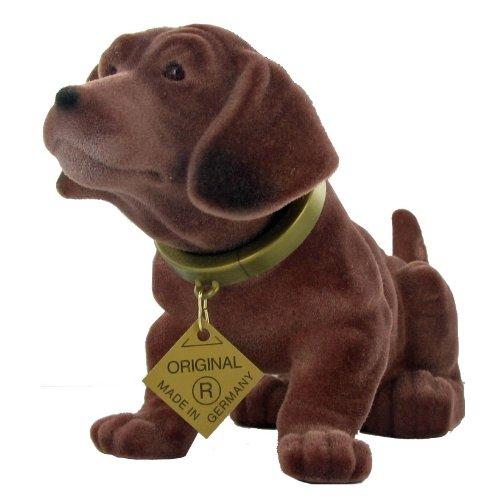 Der Original Wackelhund Dackel groß, Länge 30cm, Höhe 20cm