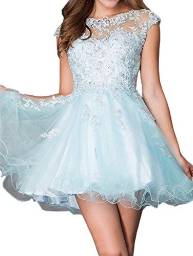 Abendkleider Kleider Hell Heimkehr Spitze La Cocktailkleider Rosa Marie mit Blau Tanzenkleider Steine Braut Mini wqFPp0