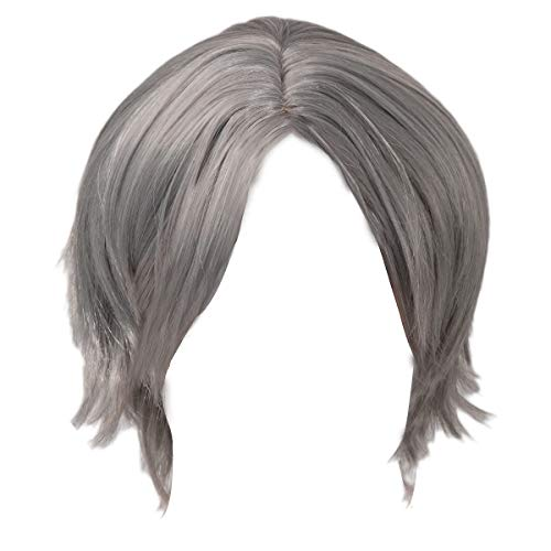 Devil May Cry 5 Dante Cosplay Wigs Short Grey Silver DMC 5 Game Anime Hair Accessories for Men -
