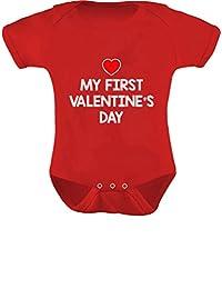 Teestars - My First Valentine's Day Baby Infant Heart Love Grow Cute Bodysuit
