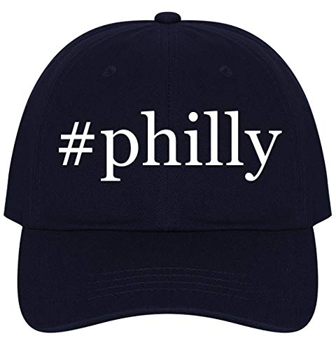 The Town Butler #Philly - A Nice Comfortable Adjustable Hashtag Dad Hat Cap, Navy ()