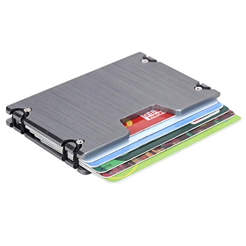 Forthery ALUMINUM SLIM WALLET RFID BLOCKING MONEY CLIP (Gray1)