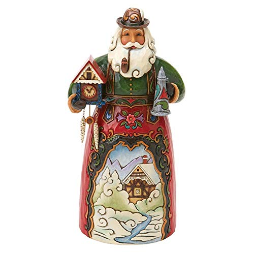 Jim Shore Heartwood Creek German Santa Stone Resin Figurine, 6.75
