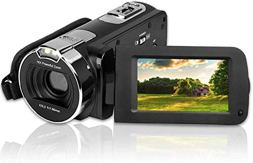 Video CameraVideo Camera Camcorder CamKing HDV-312 24MP HD 1080P 16X Digital Zoom Video Camcorder with 3.0″ LCD and 270 Degree Rotation Screen YouTube Vlogging Camera