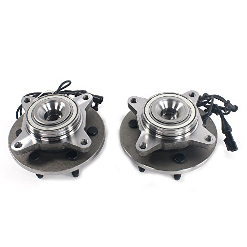 Autoforever New Pair Wheel Hub and Bearing Assembly Front for 03-06 Lincoln Ford 2WD,LH & RH 515042 (ABS on Hub)