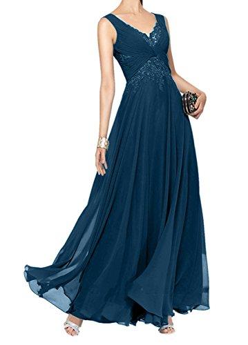 Ausschnitt Brautmutterkleider Blau Rock Tinte Lang A V Hell Charmant Ballkleider Damen Abendkleider Linie Gruen wacC0x4IZq