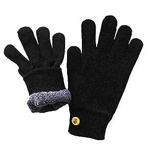 Glove.ly Cozy Gloves, Black, Medium