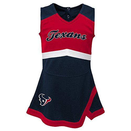 Outerstuff NFL NFL Houston Texans Infant Cheer Captain Jumper Dress Deep Obsidian, 24 -