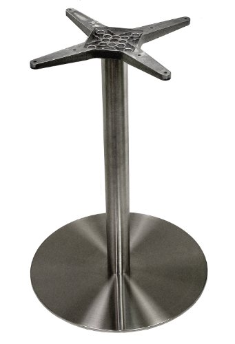 ATC Futura Round Stainless Steel Low Profile Table Base, Bar H, 20'' Base D x 40'' H by American Trading Company