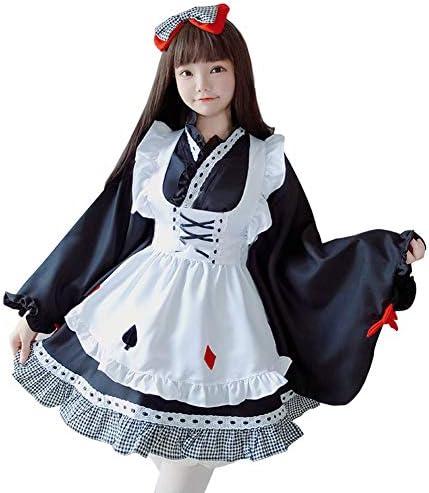 メイド服 コスプレ 和風 ブラック 長袖 レディース 文化祭 春 夏フリー (フリー)