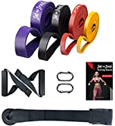 Bob and Brad Pull Up Assist Bands Resistance Band Set, Exercise Workout Bands Stretch Resistance ...
