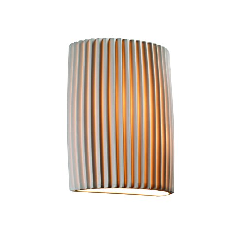 Justice Design Fan - Justice Design Group Limoges 1-Light Wall Sconce - Pleats Translucent Porcelain Shade