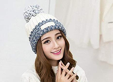 937d0f43e Ladies Hat Autumn and Winter Fashion Warm Knitting Wool Cap Winter ...
