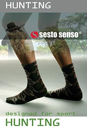 Sesto Senso Chaussette Hommes Camouflage Coton 1 ou 2 paires Camo Militaire Randonnée Plein Air Sports HUNTING 2