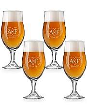 YourSurprise Vasos de Cerveza Personalizado - Vaso de Cerveza Grabado con Nombre…