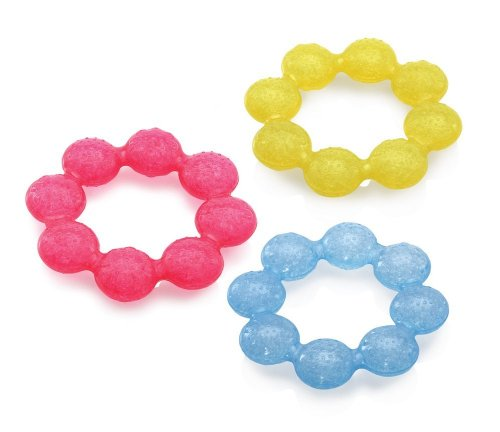 Nuby IcyBite Soother Ring Teether, Colors May Vary