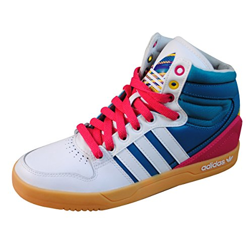 Adidas Court Attitude Damesmode Sneakers Model Q32913 Turquoise / Roze / Wit