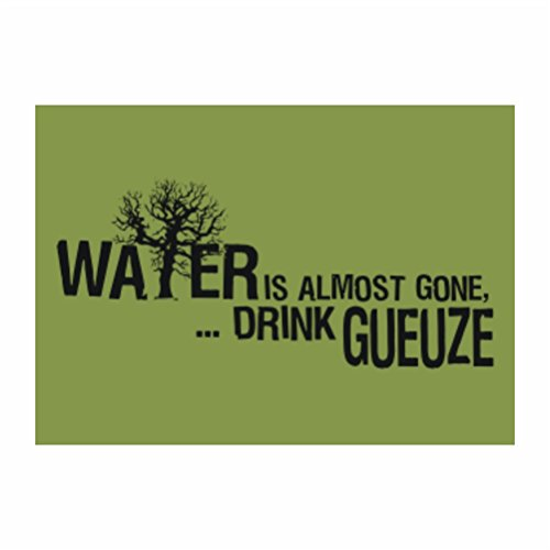 teeburon-water-is-almost-gone-drink-gueuze-pack-of-4-stickers